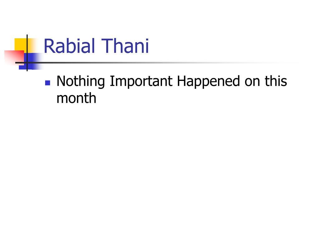 Rabial Thani