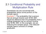 2 1 conditional probability and multiplication rule