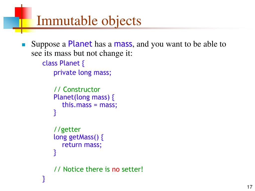 Immutable objects