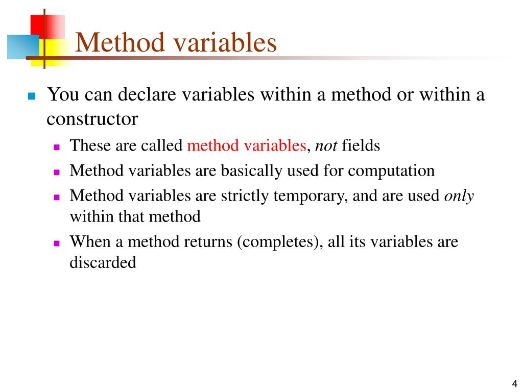 Method variables