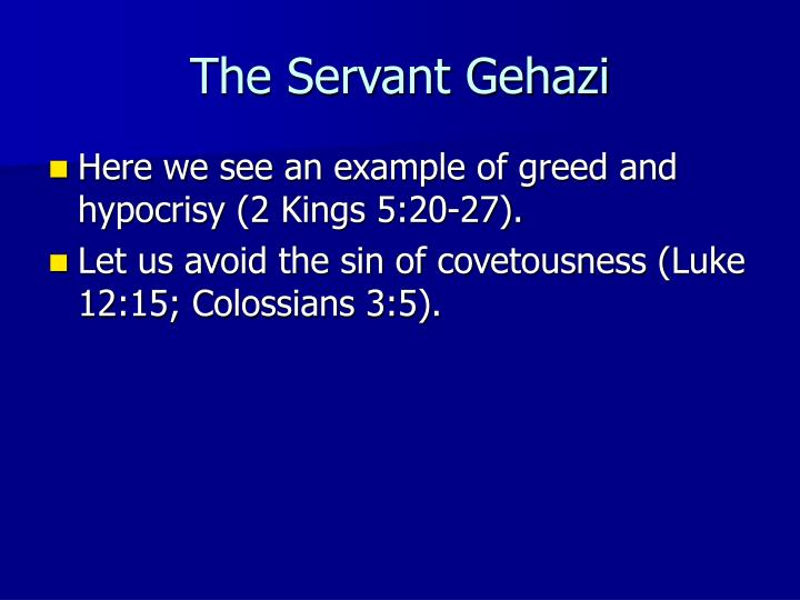 The Servant Gehazi