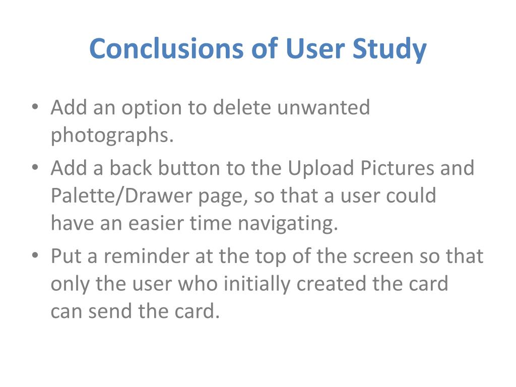 Conclusions of User Study