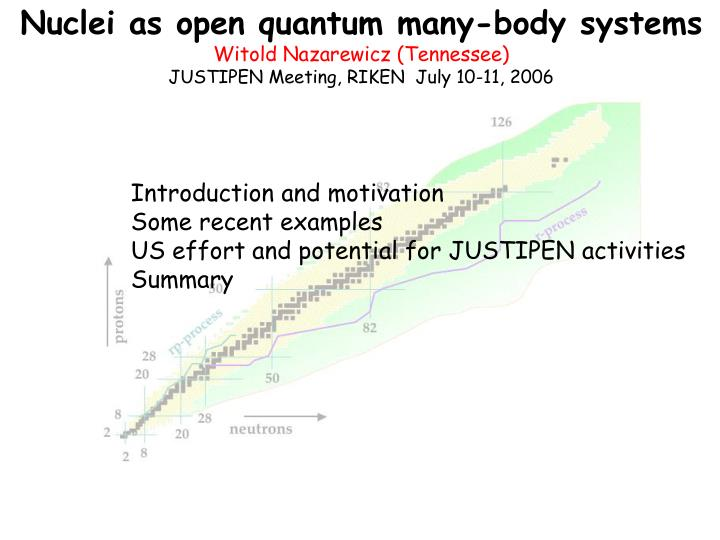 Nuclei as open quantum many-body systems