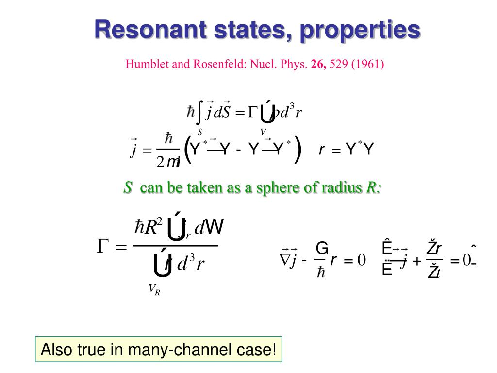 Resonant states, properties