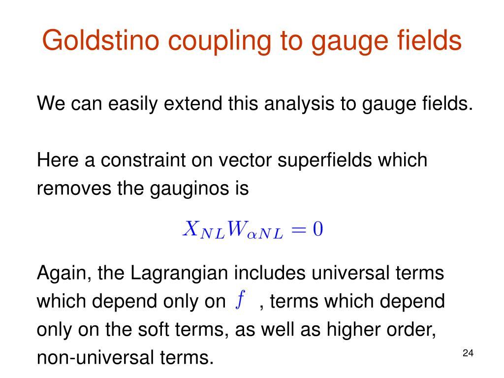 Goldstino coupling to gauge fields