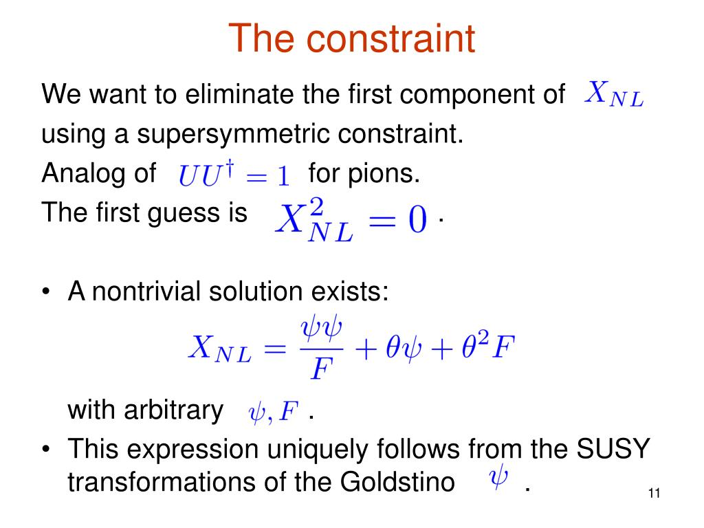 The constraint