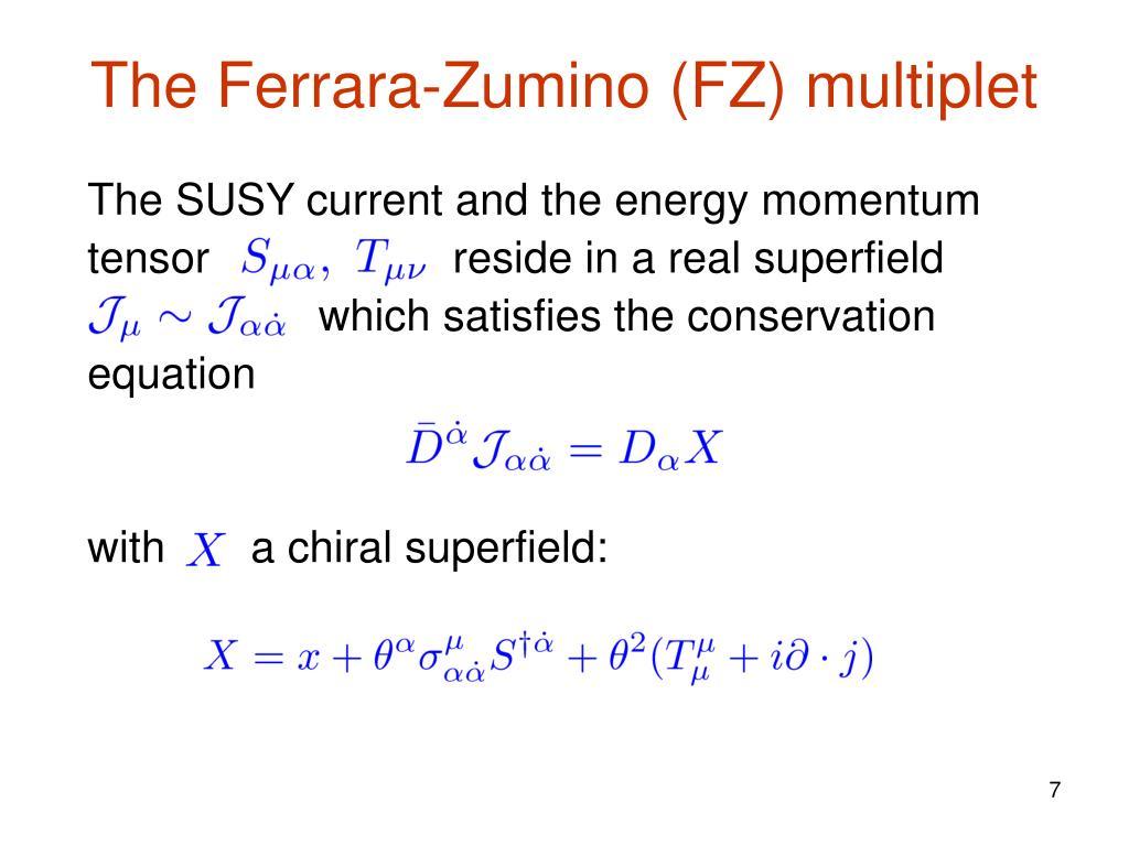 The Ferrara-Zumino (FZ) multiplet