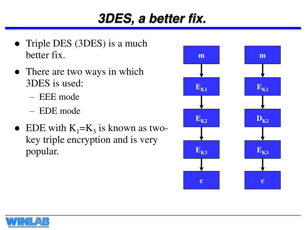 3DES, a better fix.