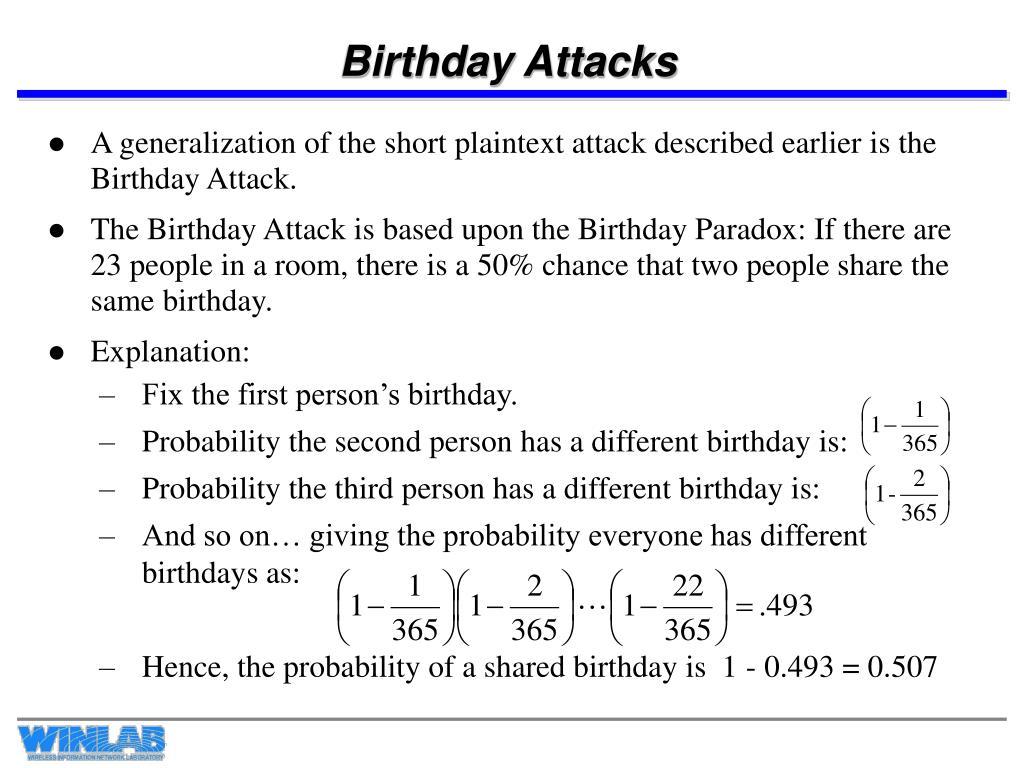 Birthday Attacks