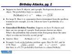 birthday attacks pg 2