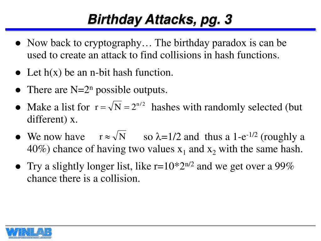 Birthday Attacks, pg. 3