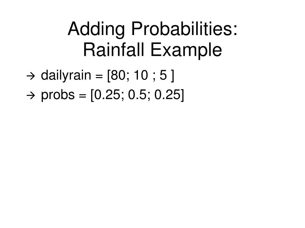 Adding Probabilities: