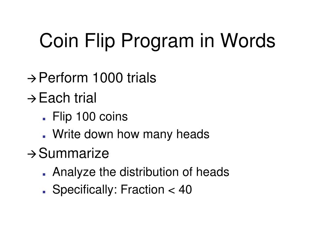 Coin Flip Program in Words