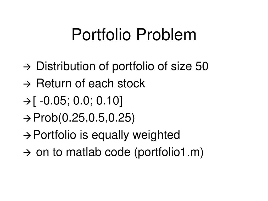 Portfolio Problem