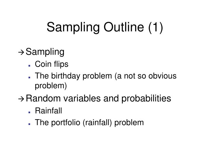 Sampling outline 1