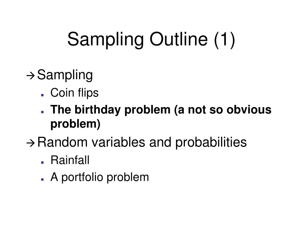Sampling Outline (1)