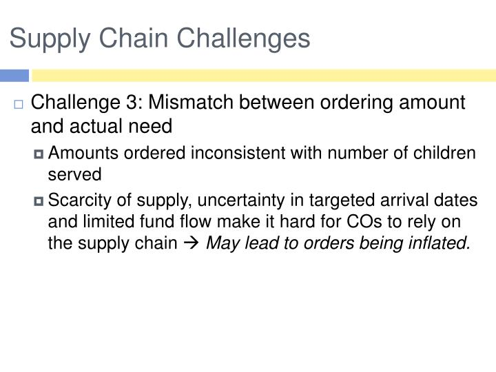 Supply Chain Challenges