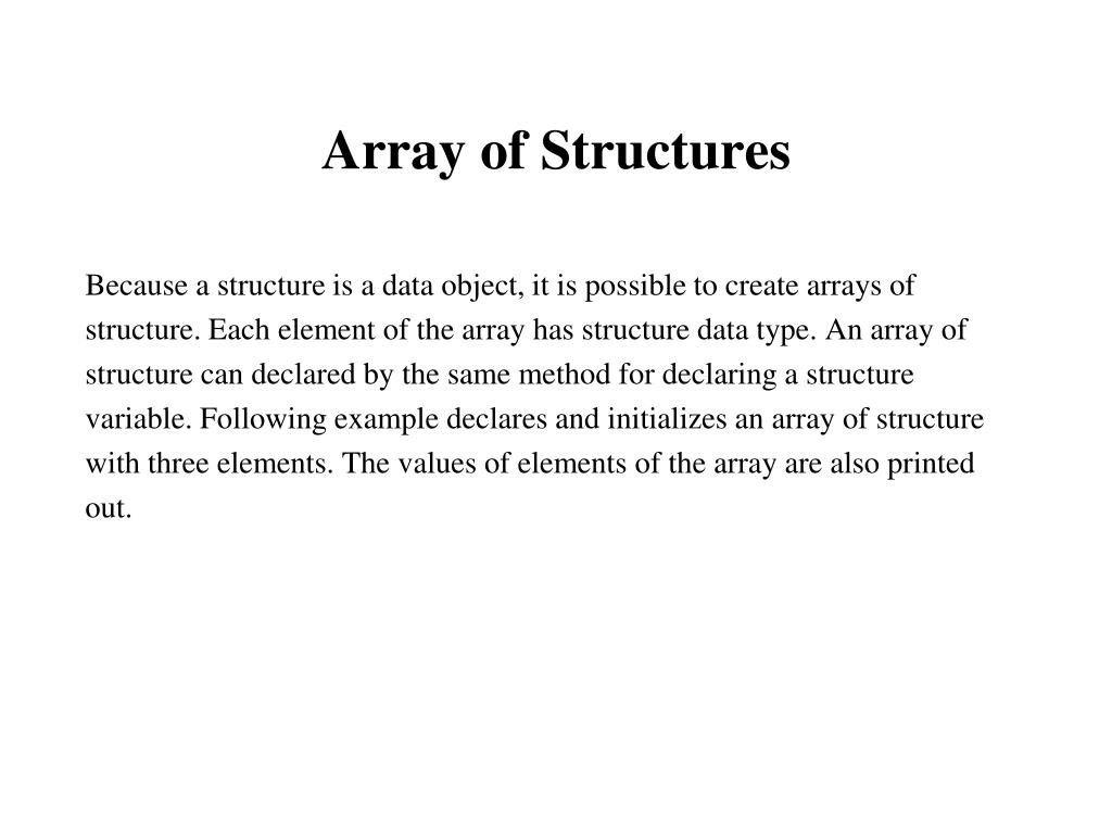Array of Structures