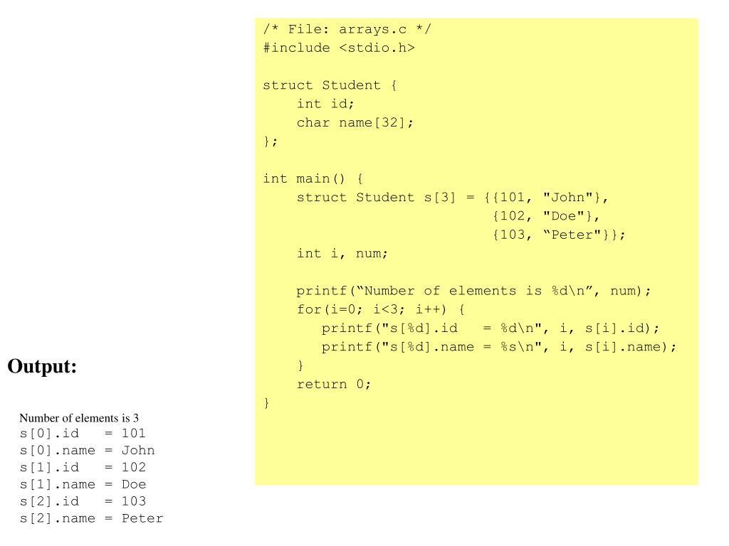 /* File: arrays.c */