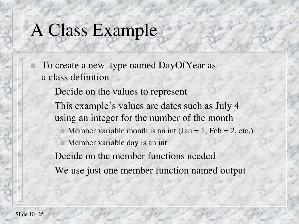 A Class Example