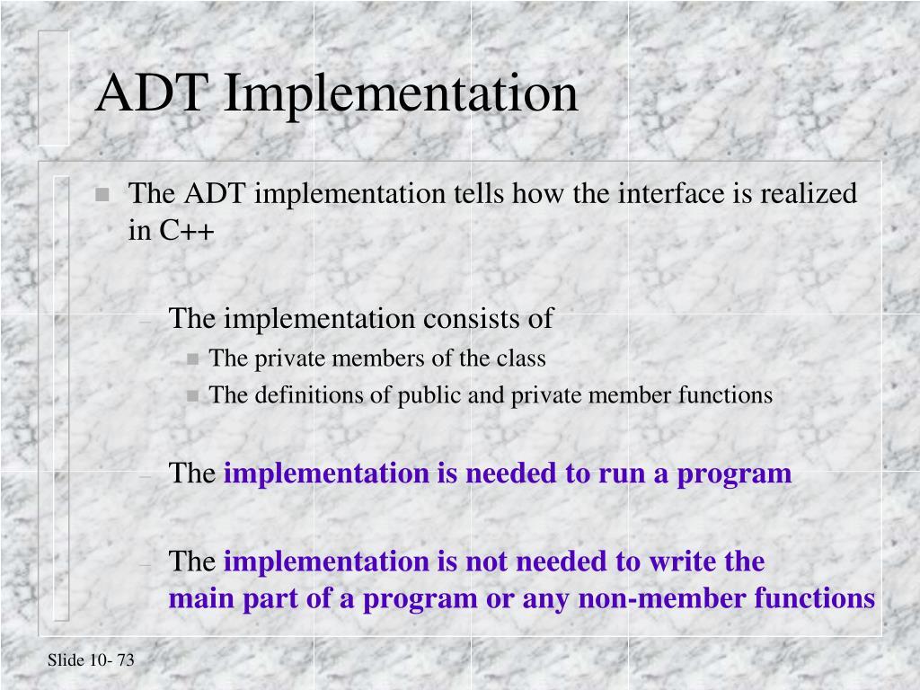 ADT Implementation
