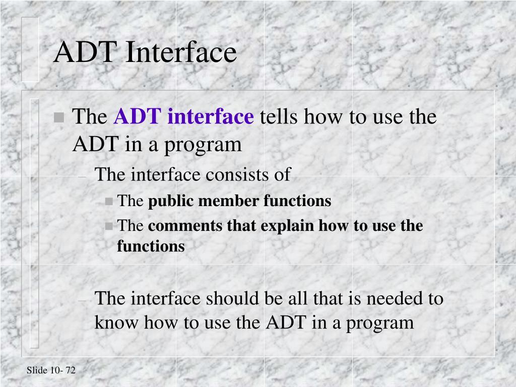 ADT Interface