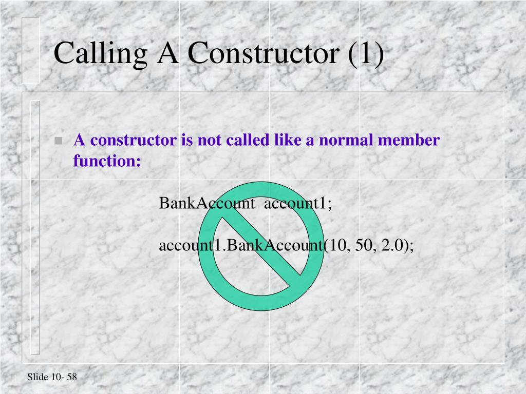 Calling A Constructor (1)