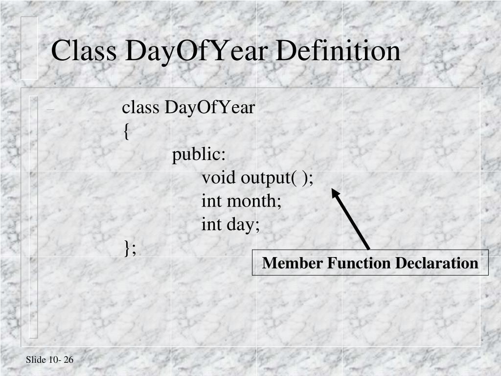 Class DayOfYear Definition