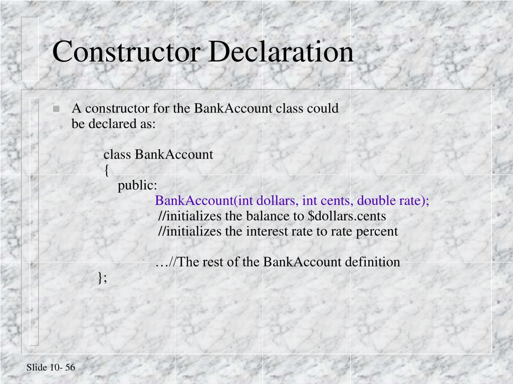 Constructor Declaration