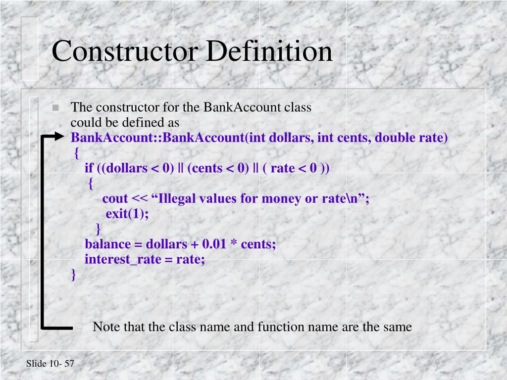 Constructor Definition