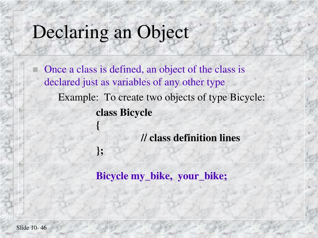 Declaring an Object
