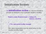 initialization sections