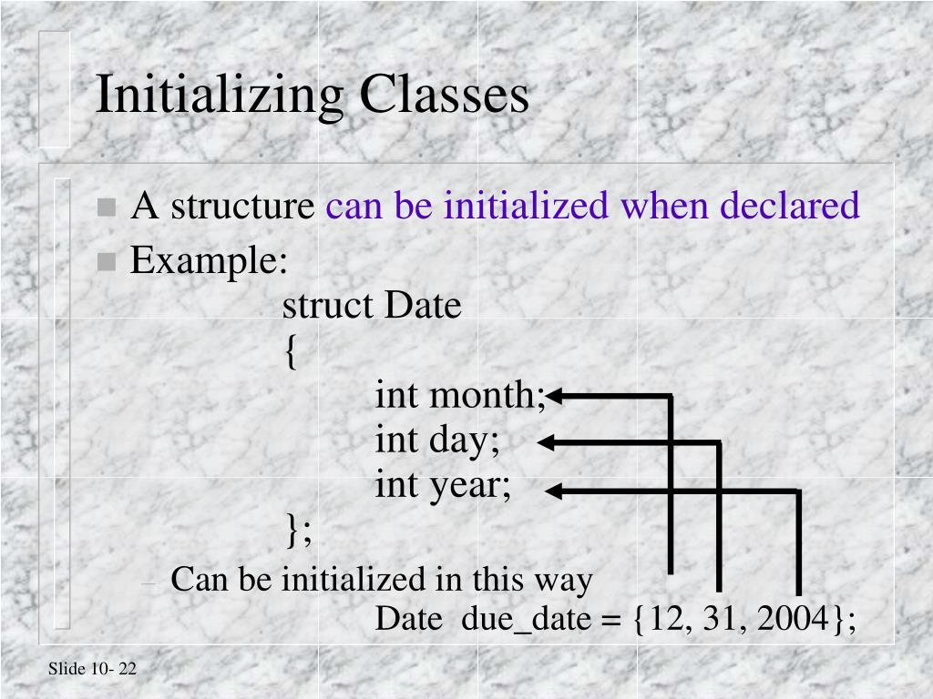 Initializing Classes