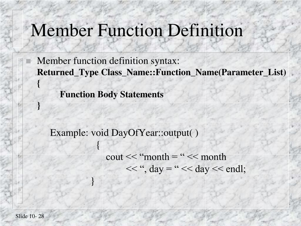 Member Function Definition
