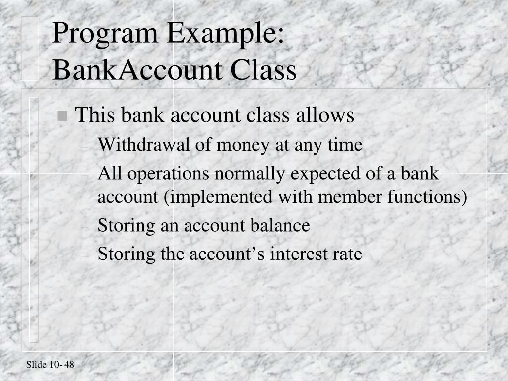 Program Example: