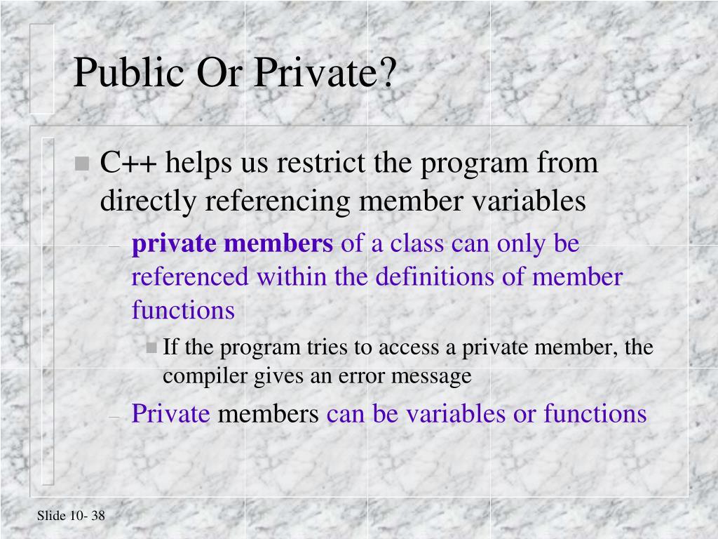 Public Or Private?