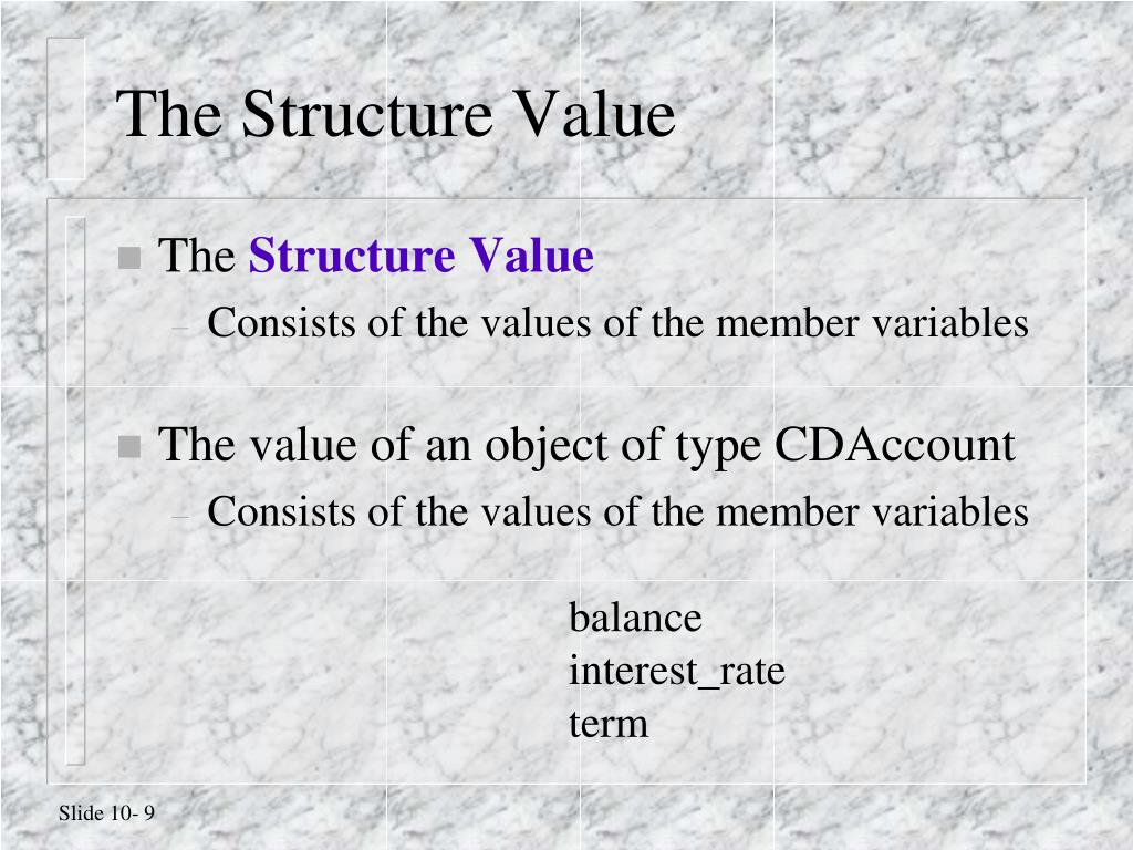 The Structure Value