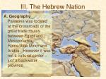 iii the hebrew nation