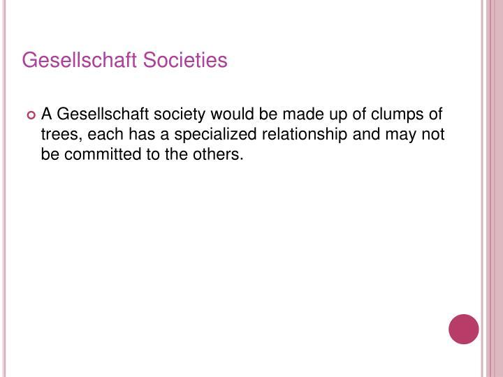 Gesellschaft Societies