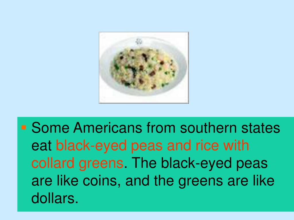 Some Americans from southern states eat