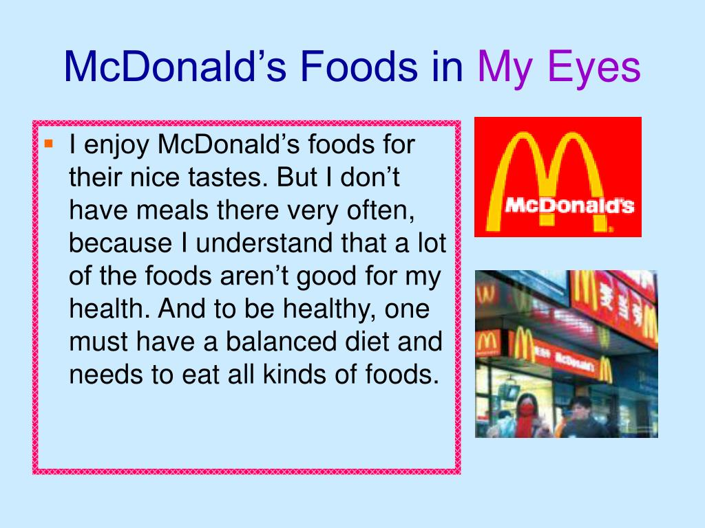 McDonald's Foods in