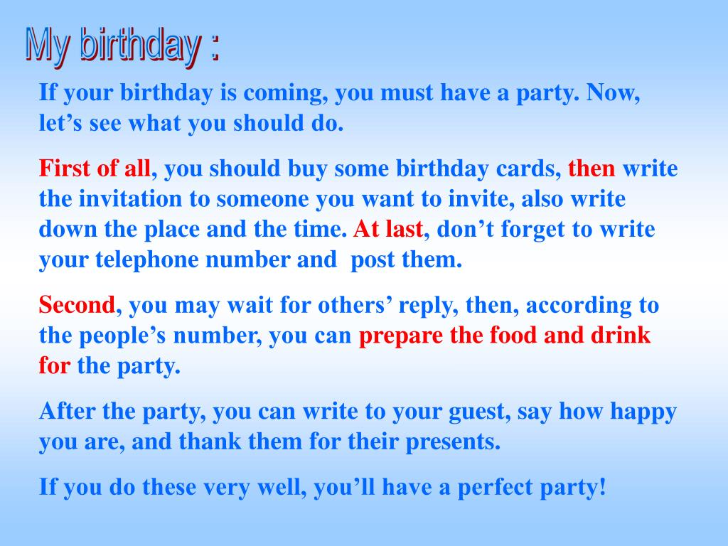 My birthday :