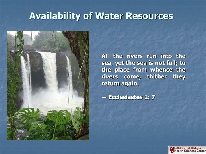 Availability of water resources l.jpg