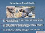 impacts on global health