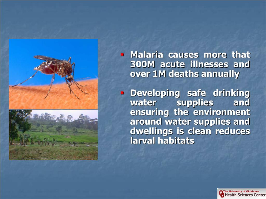 Malaria causes more that 300M acute illnesses and over 1M deaths annually