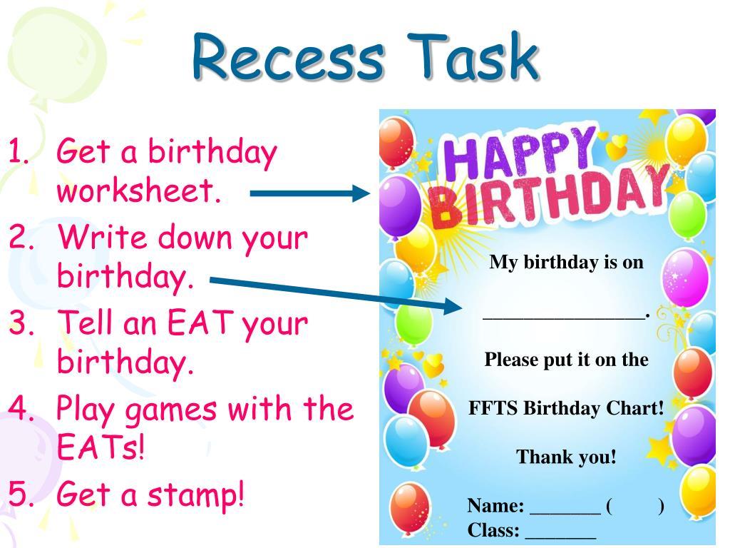 Recess Task