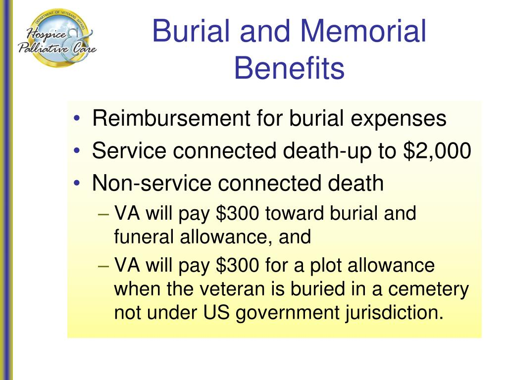 Burial and Memorial Benefits