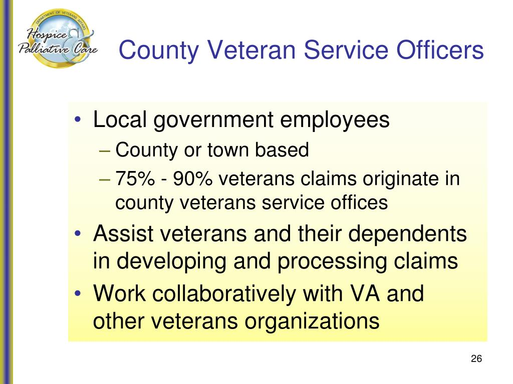 County Veteran Service Officers