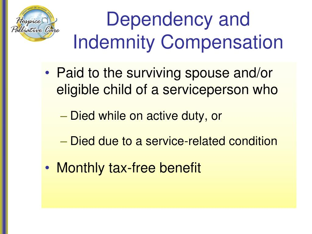 Dependency and Indemnity Compensation