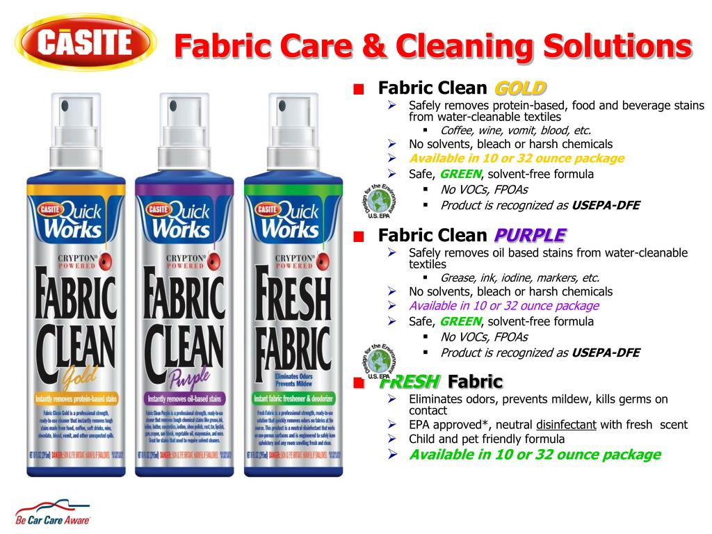 Fabric Care & Cleaning Solutions